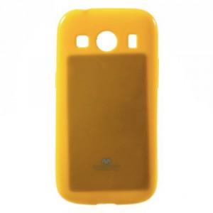 Obal Jelly Case Galaxy Ace 4 G357FZ - žlutý lesklý třpytivý