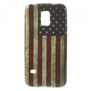 Pouzdro / Obal - Vlajka USA Vintage - Galaxy S5 Mini G800