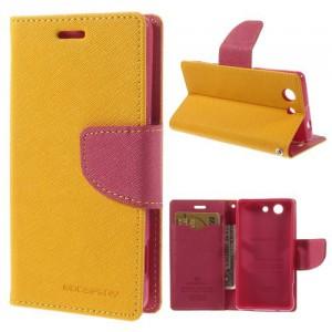 Pouzdro Fancy Diary - Xperia Z3 Compact - žluté-fuchsia
