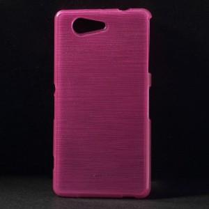 Pouzdro / Obal Xperia Z3 Compact - Broušený vzor, růžový