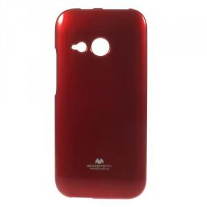Pružné pouzdro Jelly Case - HTC One Mini 2 - červené třpytivé