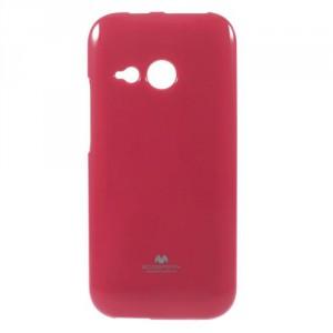 Pružné pouzdro Jelly Case - HTC One Mini 2 - tmavě růžové třpytivé