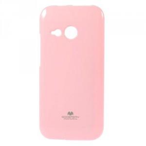Pružné pouzdro Jelly Case - HTC One Mini 2 - světle růžové třpytivé