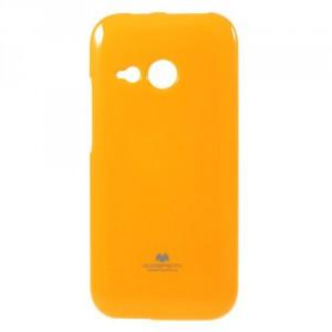 Pružné pouzdro Jelly Case - HTC One Mini 2 - žluté třpytivé