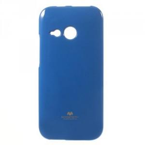 Pružné pouzdro Jelly Case - HTC One Mini 2 - modré třpytivé