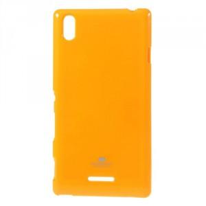 Obal Jelly Case Xperia T3 - Žlutý lesklý třpytivý