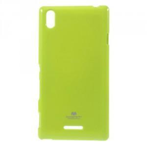 Obal Jelly Case Xperia T3 - Zelený lesklý třpytivý