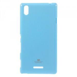 Obal Jelly Case Xperia T3 - Světle modrý lesklý třpytivý