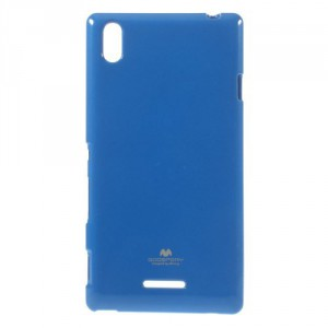 Obal Jelly Case Xperia T3 - Tmavě modrý lesklý třpytivý