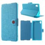 Lehké pouzdro Wallet - Modré - Xperia Z3+