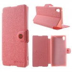 Lehké pouzdro Wallet - Světle růžové - Xperia Z3+