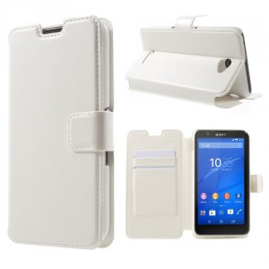 Pouzdro Sony Xperia E4 - Bílé lesklé