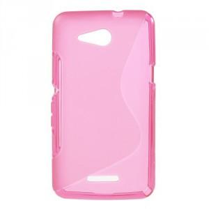 Pouzdro S Line - Xperia E4g - růžové