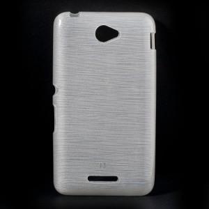 Pouzdro / Obal - Xperia E4 - Broušený vzor, bílý