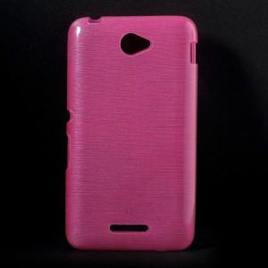 Pouzdro / Obal - Xperia E4 - Broušený vzor, růžový