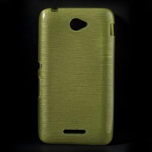 Pouzdro / Obal - Xperia E4 - Broušený vzor, žlutozelený
