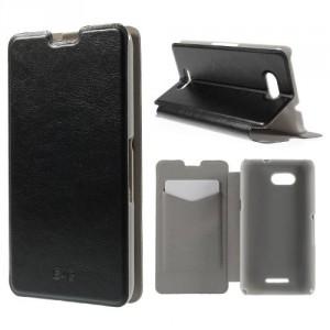 Koženkové pouzdro - Xperia E4g - Černé lesklé