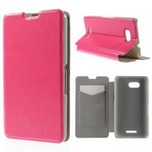 Koženkové pouzdro - Xperia E4g - Růžové lesklé