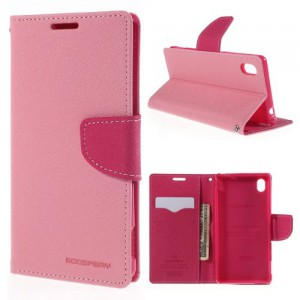 Pouzdro Fancy Diary - Xperia M4 Aqua - růžové-fuchsia