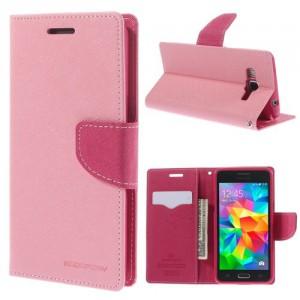 Pouzdro Fancy Diary - růžové-fuchsia - Galaxy Grand Prime