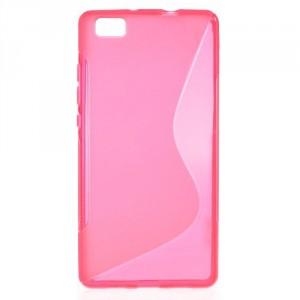Pouzdro / Obal S-Curve - Huawei P8 Lite - růžový