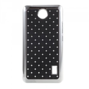Kryt / Obal Huawei Y635 - Černý s kamínky