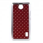 Kryt / Obal Huawei Y635 - Červený s kamínky
