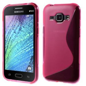 Pouzdro / Obal S-Curve, růžový - Galaxy J1