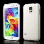 Pouzdro / Obal - Broušený vzor, bílý - Galaxy S5