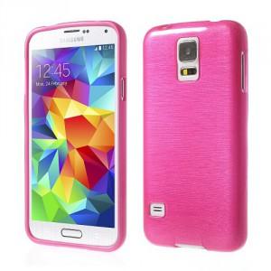 Pouzdro / Obal - Broušený vzor, růžový - Galaxy S5