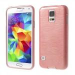 Pouzdro / Obal - Broušený vzor, starorůžový - Galaxy S5