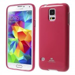 Obal Jelly Case - Galaxy S5 - Tmavě růžový lesklý třpytivý