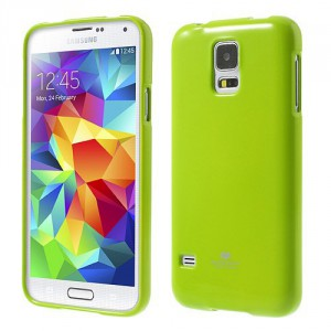 Obal Jelly Case Galaxy S5 - Zelený lesklý třpytivý