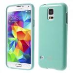 Obal Jelly Case Galaxy S5 - Tyrkysový lesklý třpytivý