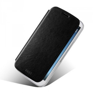 Tenké koženkové knížkové pouzdro - One Touch Pop C9 - Černé