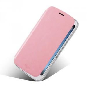 Tenké koženkové knížkové pouzdro - One Touch Pop C9 - Růžové