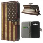 Koženkové knížkové pouzdro - One Touch Pop C9 - Vlajka USA