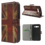 Koženkové knížkové pouzdro - One Touch Pop C9 - Union Jack