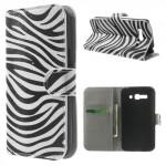 Koženkové knížkové pouzdro - One Touch Pop C9 - Zebra