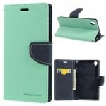 Pouzdro Fancy Diary - Xperia Z3 - tyrkysové-tmavě modré