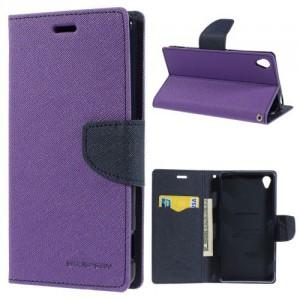 Pouzdro Fancy Diary - Xperia Z3 - fialové-tmavě modré