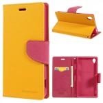 Pouzdro Fancy Diary - Xperia Z3 - žluté-fuchsia