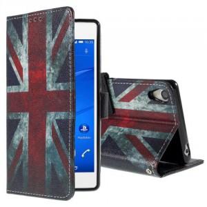 Koženkové knížkové - Xperia Z3 - Union Jack
