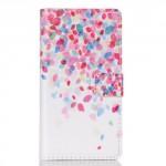 Koženkové pouzdro - Huawei P8 Lite - Barevné listy