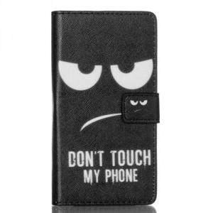 Koženkové pouzdro Huawei P8 Lite - Don't touch my phone
