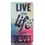 Koženkové pouzdro Huawei P8 Lite - Live the life you love