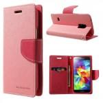 Pouzdro Fancy Diary - Galaxy S5 Mini - Růžové-fuchsia