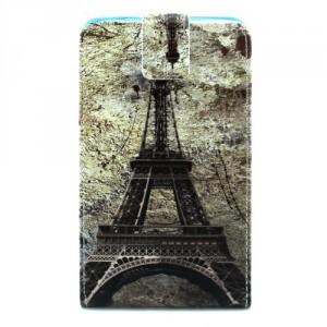 Koženkové pouzdro flip - Lumia 640 XL - Eiffelovka