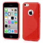 Pouzdro / Obal S-curve - iPhone 5c - červené