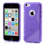 Pouzdro / Obal S-curve - iPhone 5c - fialové